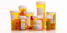 prescription medication bottles