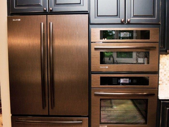 copper toned appliances
